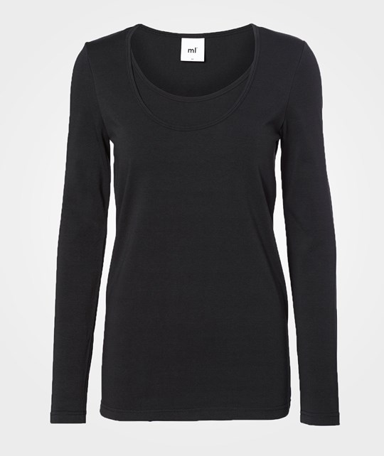 Mamalicious Sofia Nell Ls Top Basic 2-pack Black