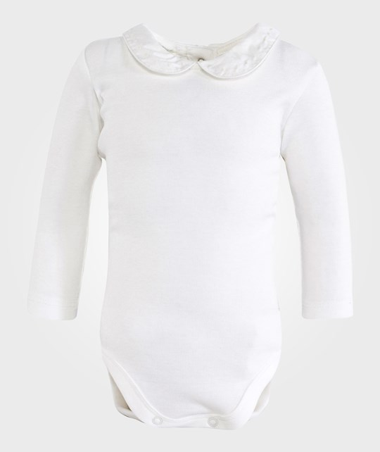 United Colors of Benetton L/S Body T-Shirt With Colar Off White Vit