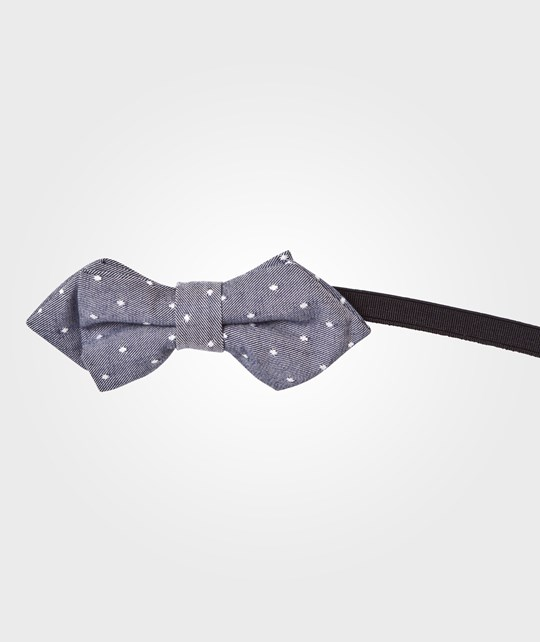 United Colors of Benetton Polka Dot Bow Tie Grey Black