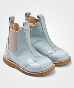 Angulus Chelsea Booties With Stitched Detail Dusty Mint/Beige