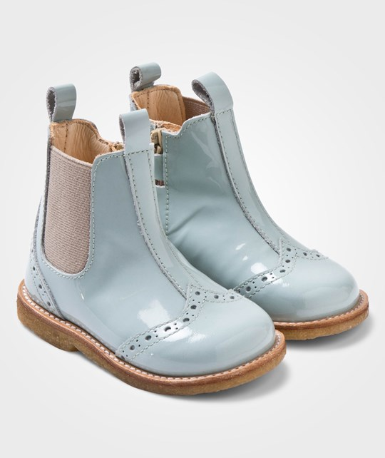 Angulus Chelsea Booties With Stitched Detail Dusty Mint/Beige Beige