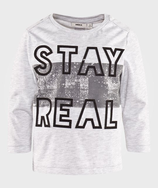 Mexx T-Shirt With Stay Real Print Grey Grey