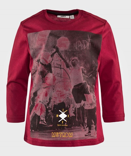 Mexx Лонгслив T-Shirt With Basketball Print Red красный