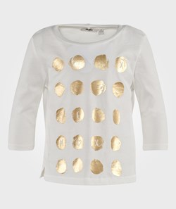 Mexx T-Shirt With Gold Dots White