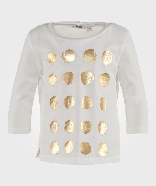Mexx T-Shirt With Gold Dots White White