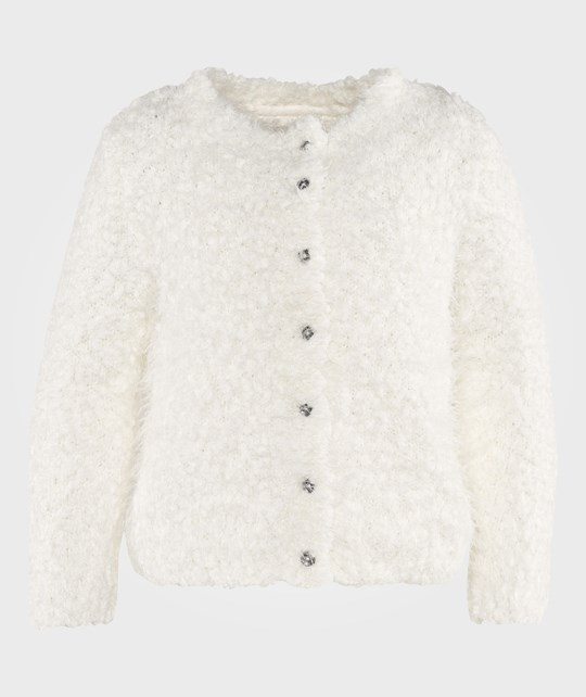 Mexx White Fluffy Knitted Cardigan Hvid