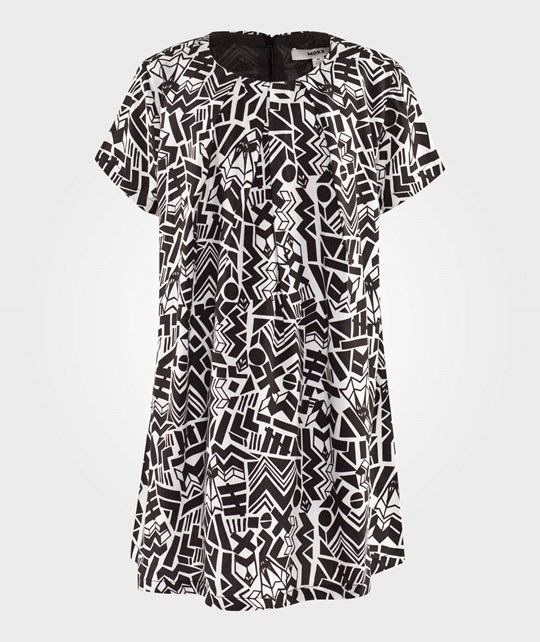 Mexx Black And White Graphic Dress Black