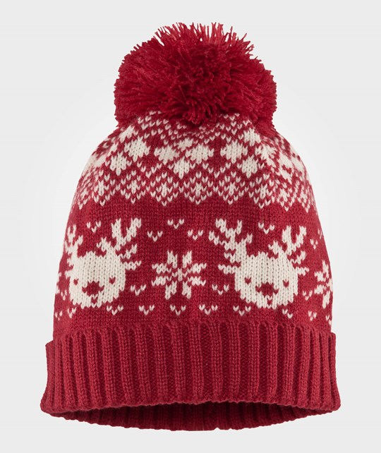 Esprit Knitted Hat Coral Red Coral Red