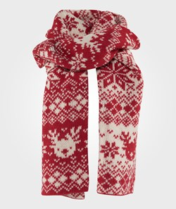 Esprit Knitted Scarf Coral Red