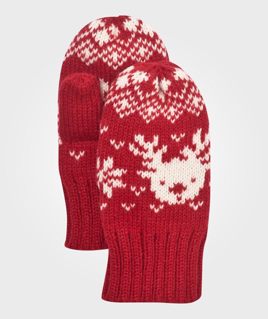 Esprit Mittens Coral Red Coral Red