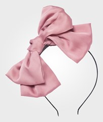 DOLLY by Le Petit Tom Big Hair-Bow Headband Dusty Pink Pink