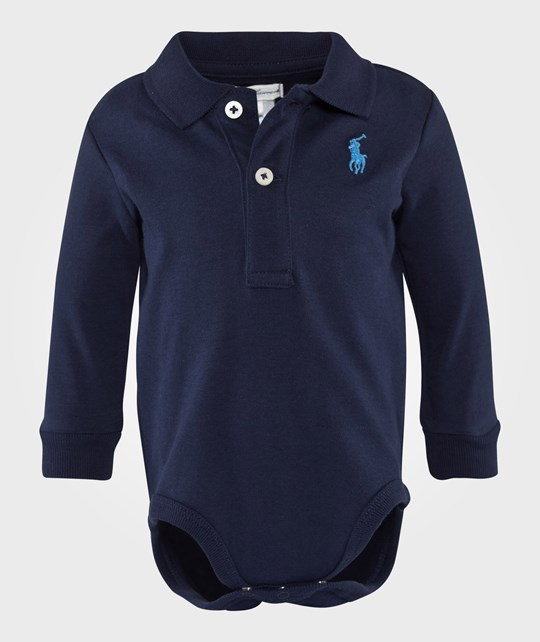 Ralph Lauren Long Sleeve Boy Polo French Navy Blue