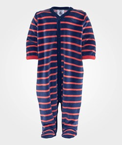 Petit Bateau Jumpsuit Navy/Red Stripes
