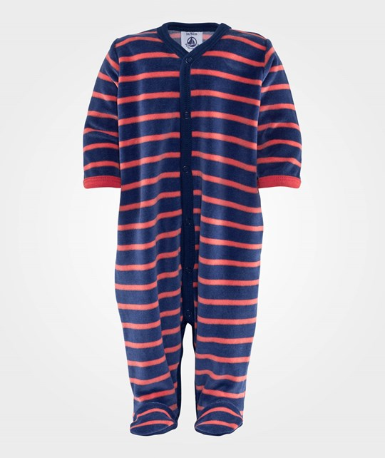 Petit Bateau Jumpsuit Navy/Red Stripes Sininen