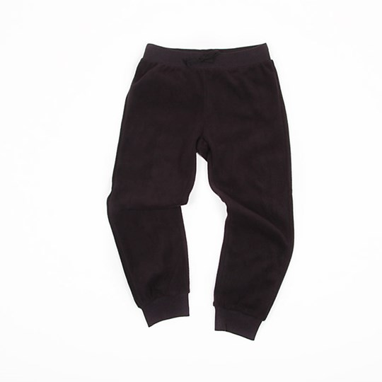 Mini Rodini Fleece Pants Black Black