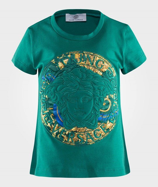 Young Versace T-Shirt Green/Gold Green