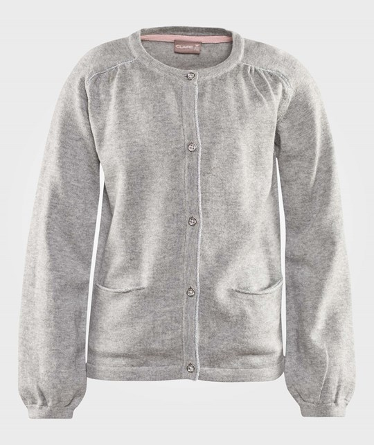 Hust&Claire Cardigan Cable Knit Grey серый