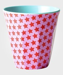 RICE A/S Melamine Cup Two Tone Star Print Pink