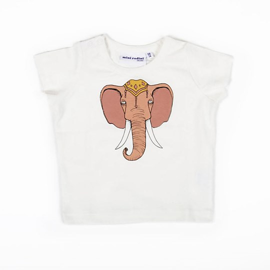 Mini Rodini Elephant Pink White