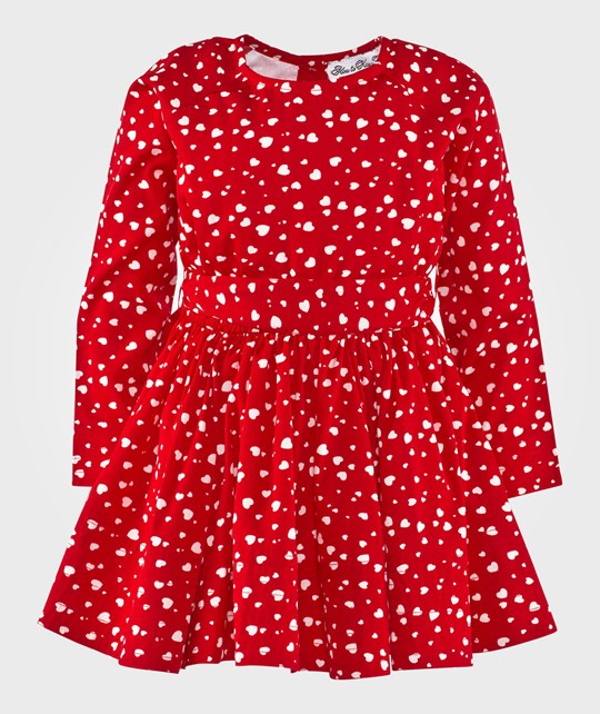 How To Kiss A Frog Adele Dress Red/White Hearts Punainen