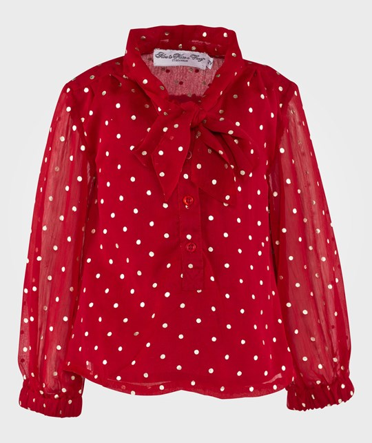 How To Kiss A Frog Poppy Blouse Red Röd