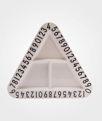Design Letters Triangular Melamine Snack Plate Multi