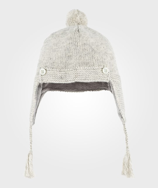 Noa Noa Miniature Baby Wool Knit Hat Grey Melange Grey