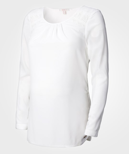 Esprit Maternity Blouse LS Off White White