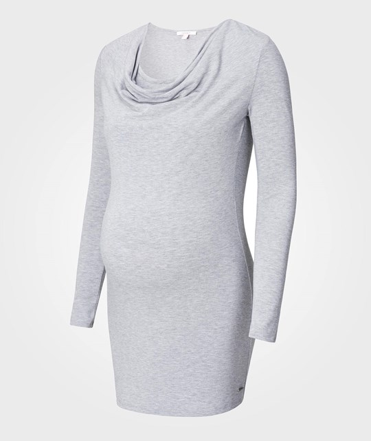 Esprit Maternity Tunic Nursing Knit Medium Grey Medium Grey