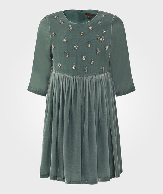 ilovegorgeous Mint Velvet 3/4 Sleeve Bead and Sequin Shoreditch Dress Teal