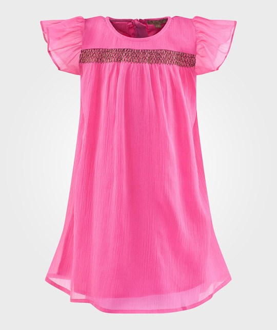 ilovegorgeous Hot Pink Storm Dress with Flutter Sleeve Hot Pink