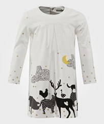 Catimini White Cord Winter Scene Dress 11