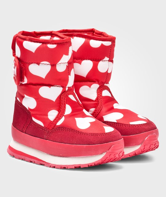 Rubber Duck Classic SnowJoggers Nylon Print Hearts Toddler Punainen