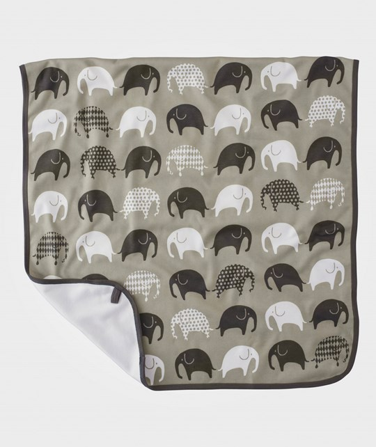Littlephant Jersey Blanket Elephant Gray Gray