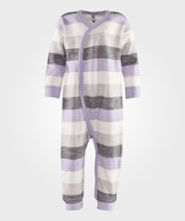 Hust&Claire Jumpsuit Oekotex Stripes Soft Grey Grå