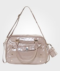 Mayoral Taupe Patent Quilted Changing Bag 50 - Topo