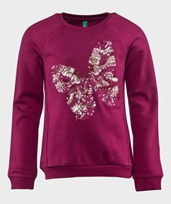 United Colors of Benetton Butterfly Sweat Shirt Fuchsia