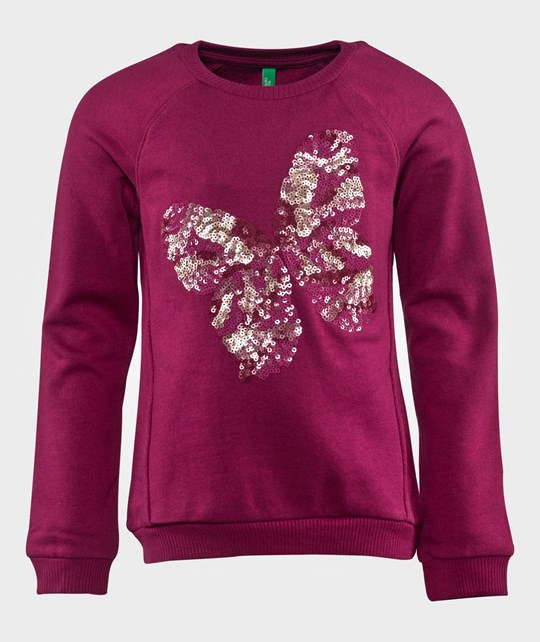 United Colors of Benetton Butterfly Sweat Shirt Fuchsia Pink