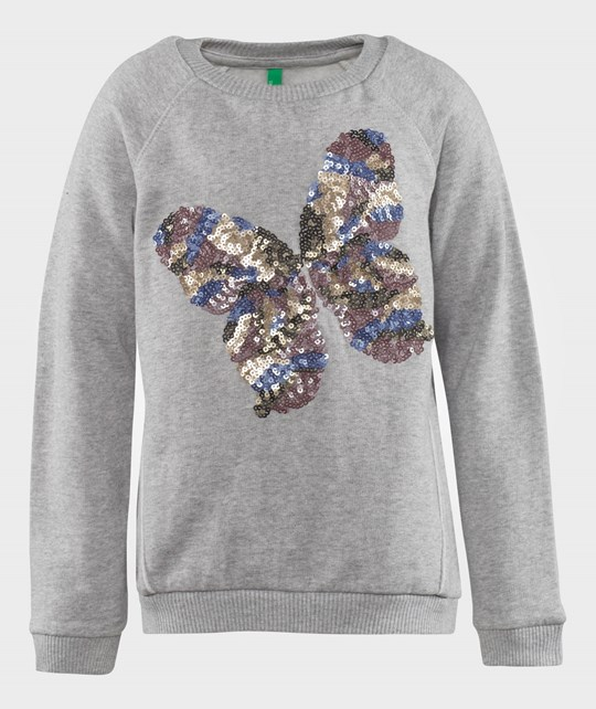 United Colors of Benetton Butterfly Sweat Shirt Grey Harmaa