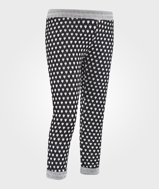 United Colors of Benetton All Over Heart Print Casual Pants Black Sort
