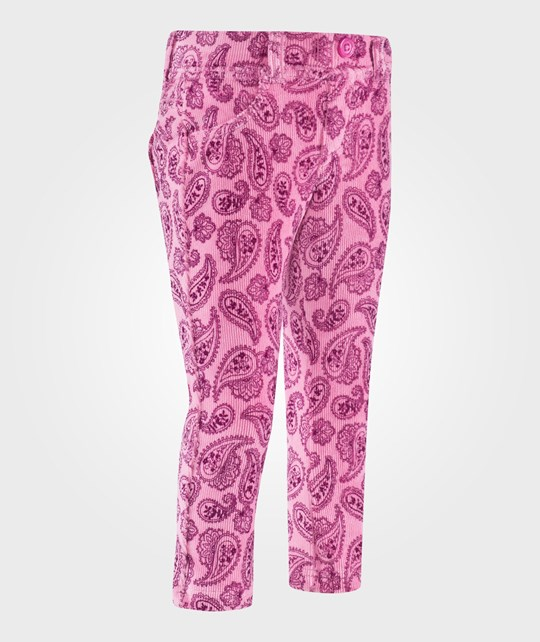 United Colors of Benetton All Over Paisley Print Jeggings With False Pockets Pink Rosa