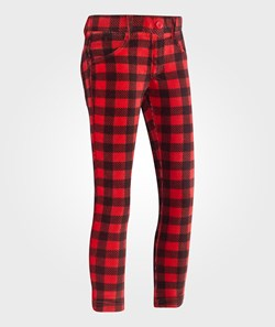 United Colors of Benetton Plaid Corduroy Jeggings Red