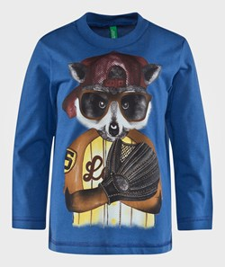 United Colors of Benetton Animal T-Shirt Blue