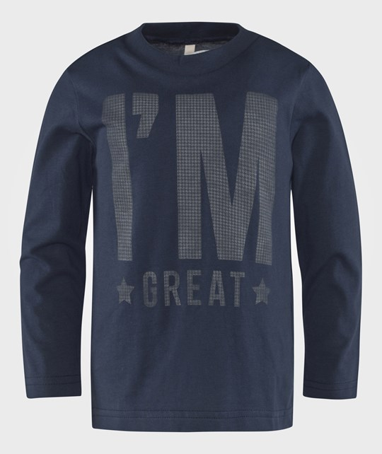 United Colors of Benetton I´M Great T-Shirt Navy Blue