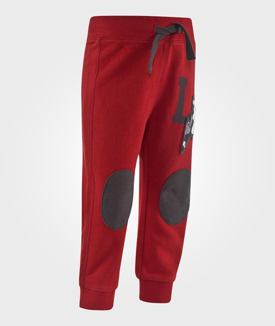 United Colors of Benetton Joggers With Knee Patches  Red Röd