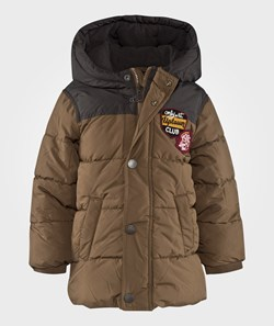 United Colors of Benetton Hooded Puffa Jacket Beige
