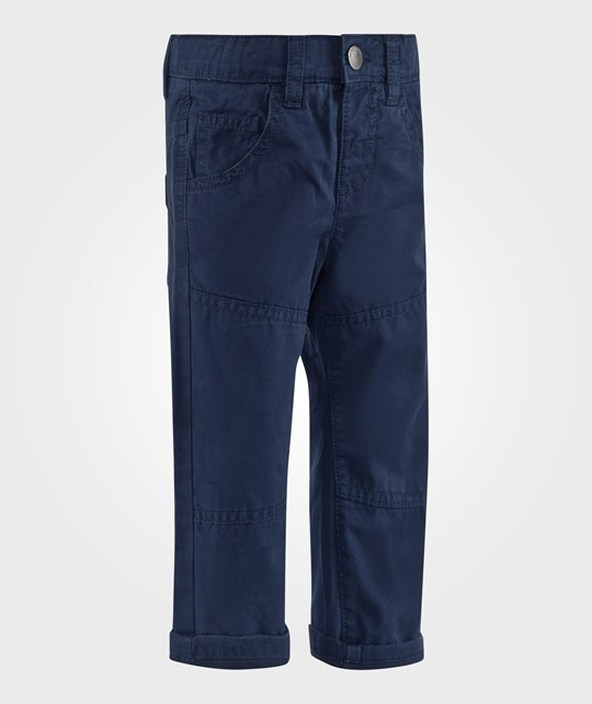 United Colors of Benetton Five Pocket Casual Cotton Trouser Navy Blue