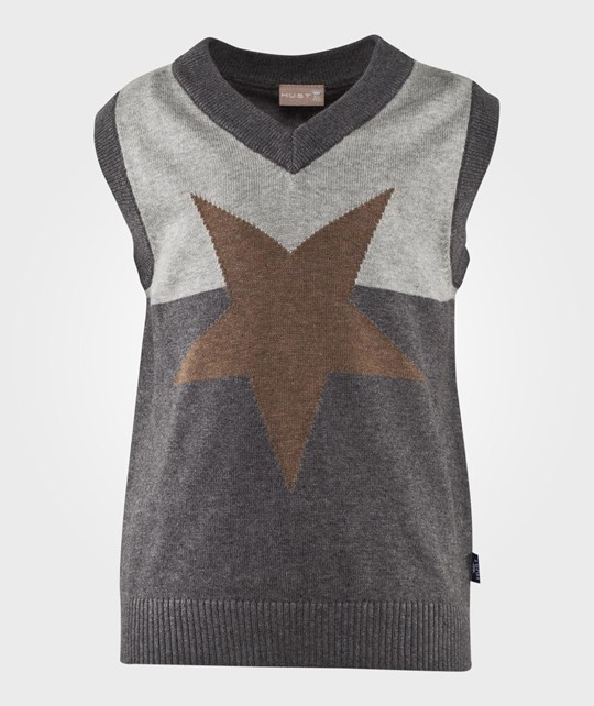 Hust&Claire V-neck Star Vest  серый
