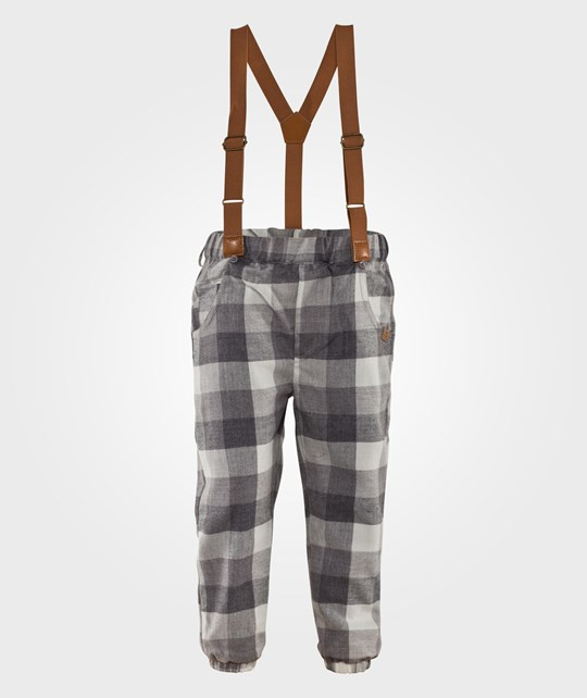 Hust&Claire Trousers Grey Check Silver