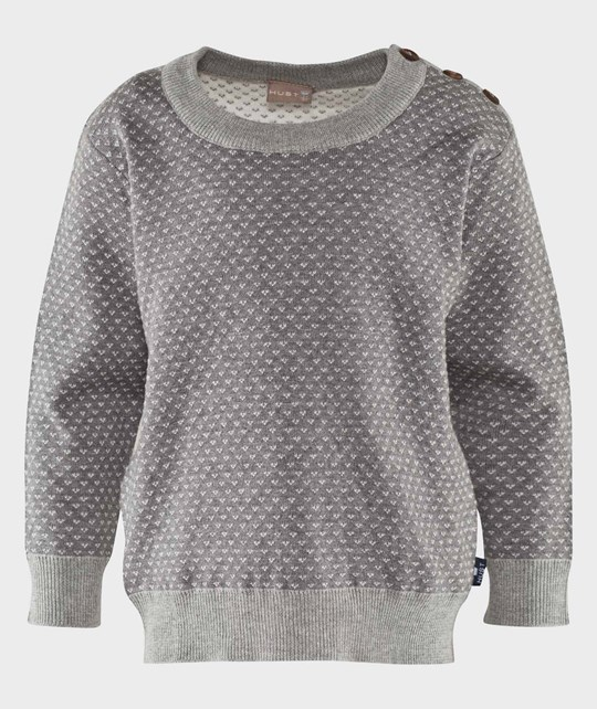 Hust&Claire Knit Pullover Sweater Grey Grey
